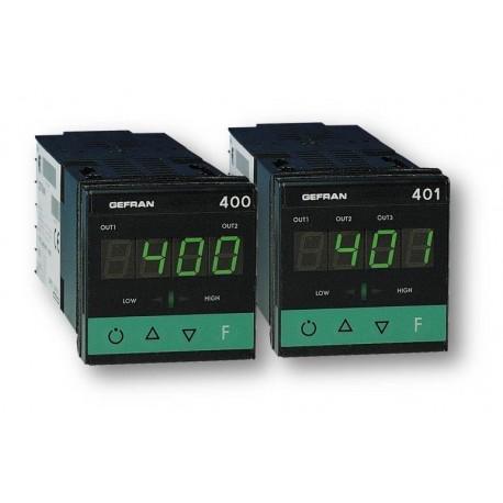 Regulátor teploty konfigurovatelný on-off-pid Gefran 400/401