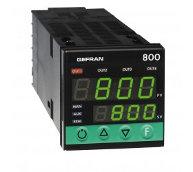 Regulátor teploty konfigurovatelný on-off-pid Gefran 800
