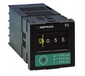 Časovač vícerozsahový s digitálním nastavením Gefran 55